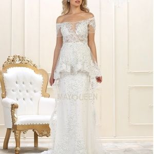 Wedding dress. Bridal gown. Formal occasions